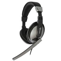 Sbox HS-302 Headset with Microphone - PC, Gaming, Multimedia, Skype - Audio 3.5mm Jack - 20Hz to 20kHz - Cable 2.2m - Black, Grey