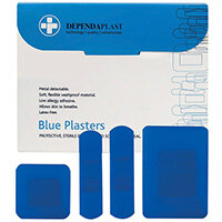 Reliance Medical Dependaplast Blue Plasters Assorted Pack of 100 546