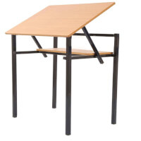 Adjustable Top Table With Shelf 500x680x760mm #SSD
