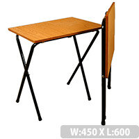 Folding Exam Table With Black Frame & Beech Top - High Quality Exam Table With Safety Brackets To Prevent Collapsing When Opening. Dimensions: L600 x W450 x H762mm. Ideal For Schools & Colleges.