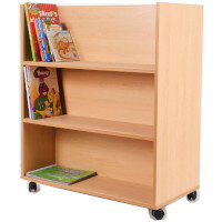 Book Trolley Double Sided Shelving #ST