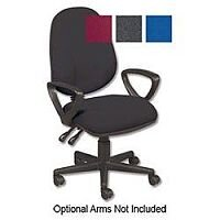 Typists Height Adjustable Fabric Chair S8
