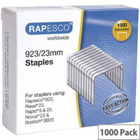 Rapesco Staples 923/23mm Pack of 1000