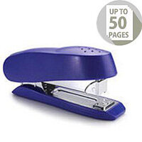 Rapesco Luna 727 Half Strip Stapler Blue