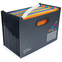 Rapesco Germ-Savvy A4 13 Part Desktop Expanding File w/Dividers 1489