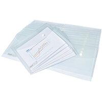 Rapesco Popper Wallet A5 Clear Pack of 25 1500