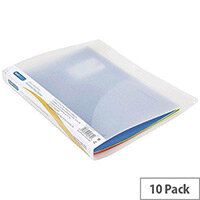 Rapesco A4 Plus 15mm 2 Ring Binder Clear Pack of 10
