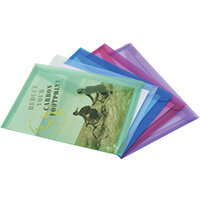 Rapesco Eco PP Popper Wallet A3 Assorted Pack of 5 1041