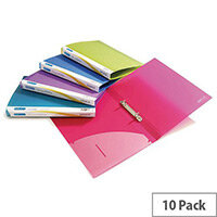 Rapesco 2 Ring Binder 25mm Assorted Pack of 10