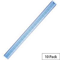 Helix Blue Shatterproof Ruler 45cm Pack of 10 L28040
