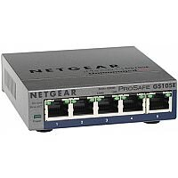 Netgear ProSafe Plus GS105E 5 Ports Ethernet Switch 2 Layer Supported Desktop