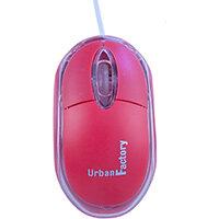 Urban Factory Cristal Mouse Optical USB 2.0, 800dpi, Internal Light, Red, Ambidextrous, Optical, USB Type-A, 800 DPI, Red