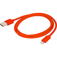 Urban Factory Cable USB to Lightning MFI certified - Red 1m, 1 m, Lightning, USB A, Red, Straight, Straight