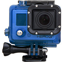 Urban Factory Waterproof Case Blue: for GoPro Hero3 and 3+ cameras, Camera housing, Blue