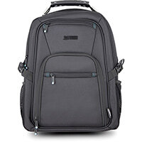 """Urban Factory Heavee Travel Laptop Backpack 14.1"""" Black, Front, Black, Unisex, Nylon, Back pocket, Front pocket, Side pocket, Top pocket, Cell phone pocket, Document pocket, Tablet pocket"""