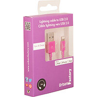 Urban Factory Cable USB to Lightning MFI certified - Purple 1m (retail packaging), 1 m, Lightning, USB A, Purple, Straight, Straight