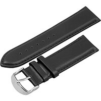 Urban Factory Leather bracelet Apple Watch 42 Black, Band, Black, Apple, iWatch 42, Leather, Silver