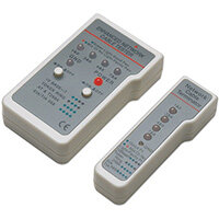 Intellinet Multifunction Cable Tester, RJ-45 and RJ-11, UTP/STP/FTP, Shielded and Unshielded, Alkaline, 9 V, 90 mm, 25 mm, 105 mm, 190 g
