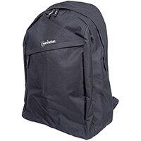 "Manhattan Knappack Backpack 15.6"", Lightweight, Internal Laptop Sleeve, Accessories Pocket, Padded Adjustable Shoulder Straps, Water Bottle Holder, Black, Three Year Warranty, 39.6 cm (15.6""), Notebook compartment, Polyester, PVC"