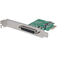 Manhattan PCI Express Card, 1x Parallel DB25 port, 2.0 Mbps, IEEE 1284, x1 x4 x8 x16 lane buses, Supports EPP/ECP/SPP modes, Box, PCIe, Parallel, IEEE 1284, CE, FCC, RoHS, WEEE, 2.5 Gbit/s, 68 mm, 120 mm