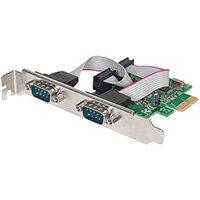 Manhattan PCI Express Card, 2x Serial DB9 ports, 2.5 Mbps, x1 x4 x8 x16 lane buses, Standard/Low Profile PCI, Box, PCIe, Serial, CE, FCC, 2.5 Gbit/s, 68 mm, 120 mm