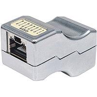 Intellinet Inline Coupler, Cat6, FTP, Locking Function, Metallic, Cat6, F/UTP (FTP), Silver, Acrylonitrile butadiene styrene (ABS), EIA/TIA UL