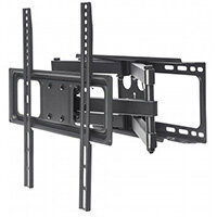 "Manhattan TV & Monitor Mount, Wall, Full Motion, 1 screen, Screen Sizes: 32-55"", Black, VESA 100x100 to 400x400mm, Max 40kg, LFD, Tilt & Swivel with 3 Pivots, Lifetime Warranty, 40 kg, 81.3 cm (32""), 139.7 cm (55""), 100 x 100 mm, 400 x 400 mm, Black"