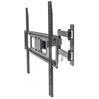 "Manhattan TV & Monitor Mount, Wall, Full Motion, 1 screen, Screen Sizes: 37-65"", Black, VESA 100x100 to 600x400mm, Max 35kg, LFD, Tilt & Swivel with 3 Pivots, Lifetime Warranty, 35 kg, 94 cm (37""), 177.8 cm (70""), 100 x 100 mm, 600 x 400 mm, Black"