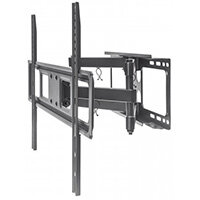 "Manhattan TV & Monitor Mount, Wall, Full Motion, 1 screen, Screen Sizes: 37-65"", Black, VESA 100x100 to 600x400mm, Max 40kg, LFD, Tilt & Swivel with 3 Pivots, Lifetime Warranty, 40 kg, 94 cm (37""), 177.8 cm (70""), 100 x 100 mm, 600 x 400 mm, Black"