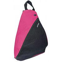 "Manhattan Dashpack Sling Backpack 12"", Black/Pink, Padded Internal Pocket for Laptop up to 12""/Tablet, Zippered hip pockets, Earphone Pocket, Lightweight, Sporty, Padded Shoulder Strap, Three Year Warranty, 30.5 cm (12""), PVC, Polyester"