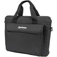 """Manhattan London Laptop Bag 12.5"""", Top Loader, Accessories Pocket, Shoulder Strap (removable), Notebook Case, Black, Three Year Warranty, Messenger case, 31.8 cm (12.5""""), Shoulder strap, 330 g"""