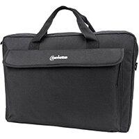 """Manhattan London Laptop Bag 17.3"""", Top Loader, Accessories Pocket, Shoulder Strap (removable), Notebook Case, Black, Three Year Warranty, Messenger case, 43.9 cm (17.3""""), Shoulder strap, 430 g"""