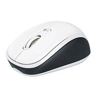 Manhattan Dual-Mode Mouse, Bluetooth 4.0 and 2.4 GHz Wireless, 800/1200/1600 dpi, Three Buttons With Scroll Wheel, Black & White, Box, Ambidextrous, Optical, Bluetooth, 1600 DPI, Black, White