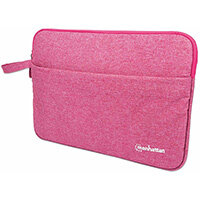 """Manhattan Seattle Laptop Sleeve 14.5"""", Coral, Padded, Extra Soft Internal Cushioning, Main Compartment with double zips, Zippered Front Pocket, Carry Loop, Water Resistant and Durable, Notebook Slipcase, Three Year Warranty, Sleeve case, 36.8 cm (14.5""""),"""