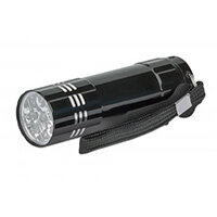 Manhattan LED Torch/Flashlight 3-pack (promo), Bright 45 Lumen Output (9 LEDs), Aluminium, Compact (85x25x25mm), Long Lasting Performance, Each torch uses 3x AAA batteries (3 included, enough for one torch), Carry Loop, Black, Hand flashlight, Black, Alum