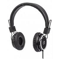 Manhattan Stereo On-Ear Headphones (promo), Lightweight, Adjustable Headband, Cushioned Earpads, 1x 3.5mm stereo jack/plug for audio output, cable 2m, Black, Three Year Warranty, Retail Box, Headphones, Head-band, Calls & Music, Black, 1.5 m, CE FCC RoHS