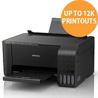 Epson ET-2715 Inkjet Multifunction Printer - Colour - Copier/Printer/Scanner - Wireless LAN, iPrint, Google Cloud Print, Wi-Fi Direct - 33 ppm Print - 5760 x 1440 dpi - Colour: Black