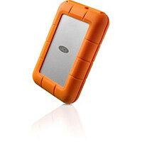 LaCie Rugged USB-C external hard drive 1000 GB Orange, Silver