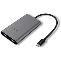 i-tec Thunderbolt 3 Dual DP Video Adapter, Thunderbolt 3, USB Type-C, DisplayPort output, 5120 x 2880 pixels