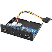 i-tec USB-C / USB 3.0 Internal Front panel, SATA, USB 3.2 Gen 1 (3.1 Gen 1), Black, 5 Gbit/s, 95 mm, 102 mm