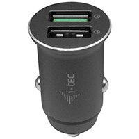 i-tec Car Charger 2x USB QC 3.0 36 W, Auto, Cigar lighter, 12 V, Grey