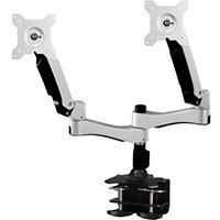 """Amer AMR2AC monitor mount / stand 61 cm (24"""") Clamp Black, Silver"""