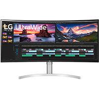 "LG 38WN95C-W, 96.5 cm (38""), 3840 x 1600 pixels, UltraWide Quad HD, 1 ms, Black, Silver, White"