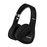 Veho ACTIVE ZB6 Wired/Wireless Over-the-head Stereo Headset - Multimedia, Skype, Zoom, Music, Office Use  - 32 Ohm - Bluetooth - Audio Jack 3.5mm with 120cm Cable - Colour: Black
