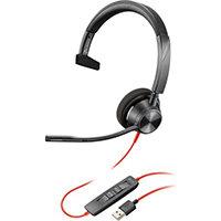 POLY 3310 Headset Head-band USB Type-A Black