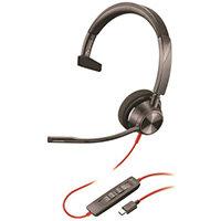 POLY 3310 Headset Head-band USB Type-C Black