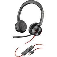 POLY Blackwire 8225 Headphones Head-band USB Type-A Black