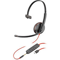 POLY Blackwire C3215 Headset Head-band 3.5 mm connector USB Type-A Black