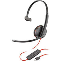 POLY Blackwire C3215 Headset Head-band 3.5 mm connector USB Type-C Black