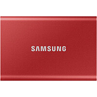 Samsung Portable SSD T7, 500 GB, USB Type-C, 3.2 Gen 2 (3.1 Gen 2), 1050 MB/s, Password protection, Red